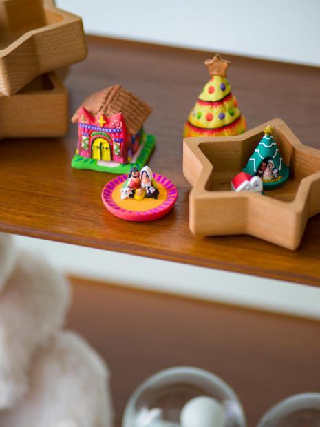 12 wood tray ¥4,500 mini house ¥2,000 mini tree ¥2,000 mini house ¥2,000 mini tree ¥1,800
