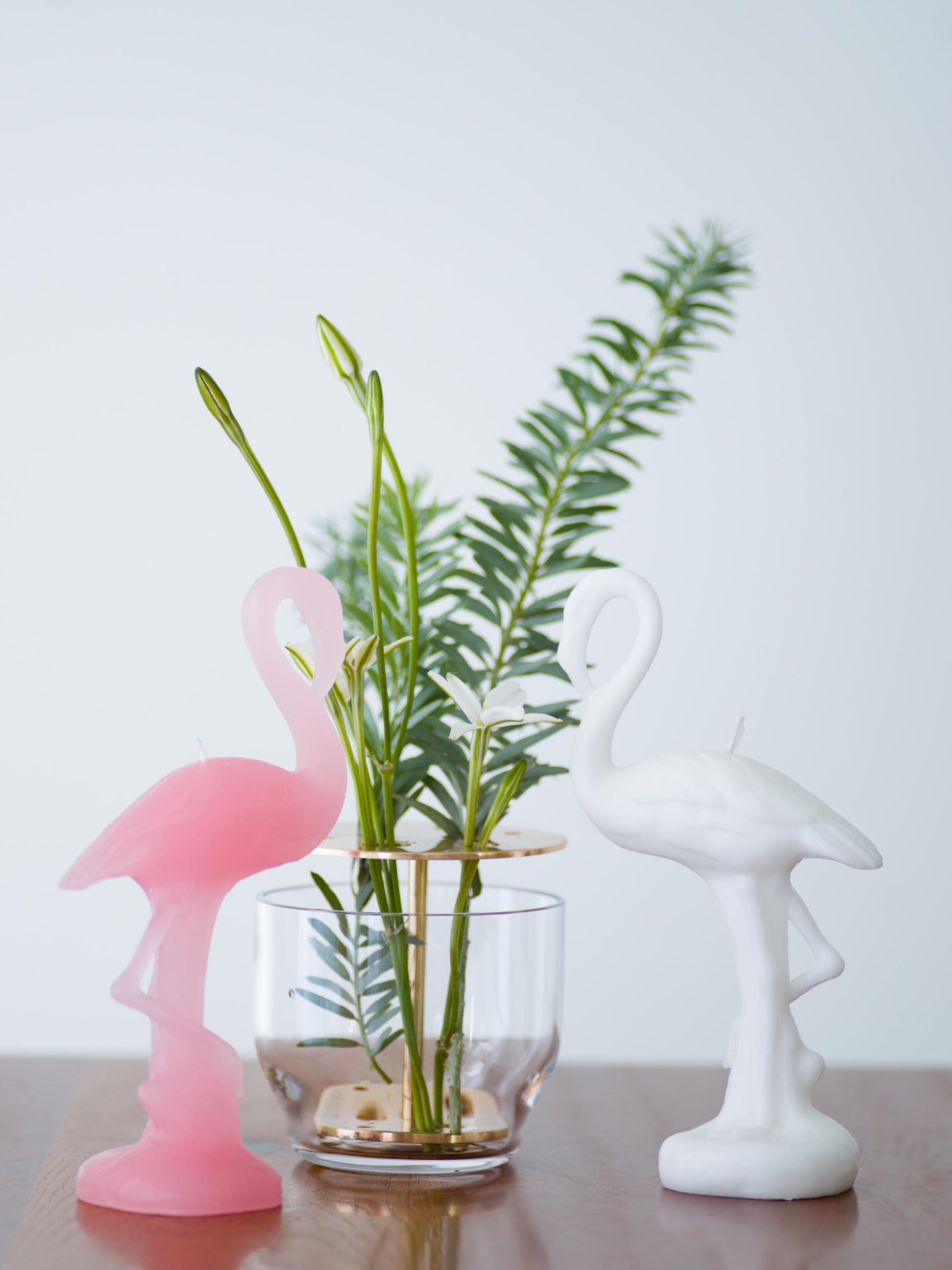 34 flamingo candle ¥3,000 Ikebana vase ¥13,000