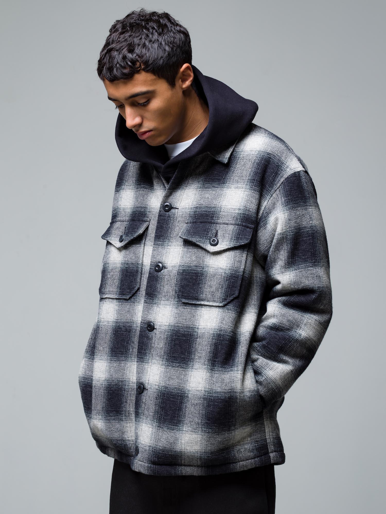 16) Jacket ¥39,600  Hoodie ¥29,700  Inner ¥8,800  Pants ¥22,000