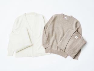 Undyed Cashmere Cardigan&Pullover