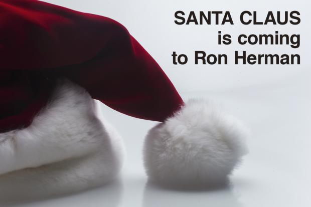 Santa Claus is Coming to Ron Herman